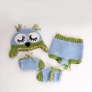 ✨✨ 3 for $25 Infant Owl Themed Diaper Cover Set